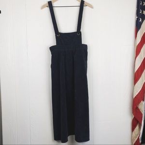 Skies Are Blue Corduroy Overall Skirt